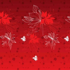 MET-D101 Asian Flowers - Red